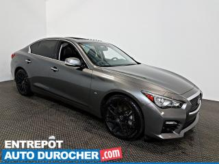 Used 2015 Infiniti Q50 Sport AWD NAVIGATION - Toit Ouvrant - A/C - CUIR for sale in Laval, QC
