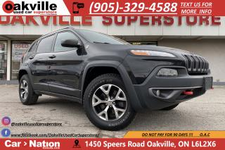Used 2015 Jeep Cherokee TRAILHAWK | LEATHER | HTD SEATS | B/U CAM | PANO for sale in Oakville, ON