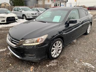 Used 2013 Honda Accord Sedan 4dr V6 Auto Touring, leather. navigation for sale in Halton Hills, ON