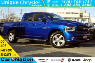Used 2016 RAM 1500 SPORT| PREMIUM GRP| SPORT HOOD| HTD SEATS & MORE for sale in Burlington, ON