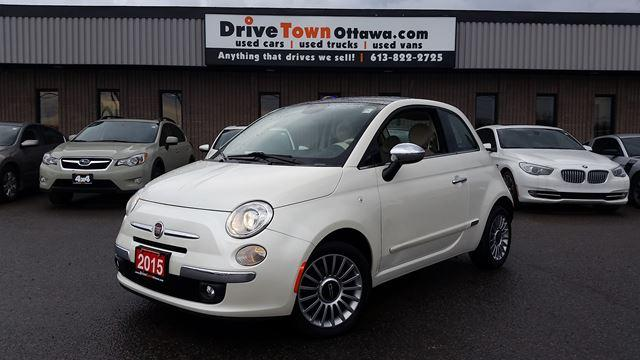 2015 Fiat 500 LOUNGE **AUTO**LEATHER**MOONROOF**90 Days no Payments**