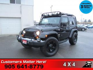 Used 2012 Jeep Wrangler Sahara  4X4 BT REMOTE HS BT CAMERA for sale in St. Catharines, ON