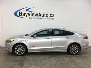 Used 2017 Ford Fusion Energi Titanium - HTD/COOLED LTHR! PLUG IN HYBRID! for sale in Belleville, ON