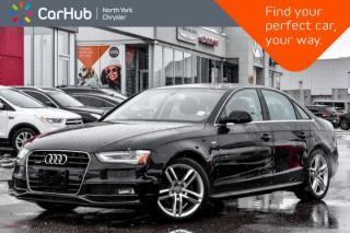 Used 2016 Audi A4 Technik Plus Quattro|SLineStyling|Nav|B&OSound|Sunroof|BlindSpot|BackupCam for sale in Thornhill, ON