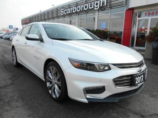 Used 2017 Chevrolet Malibu 4dr Sdn Premier w-2LZ, Leather, Navigation. for sale in Scarborough, ON