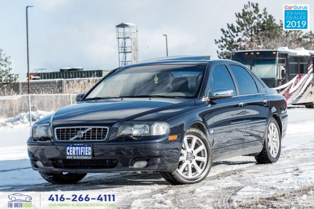 2006 Volvo S80 AWD 2.5T Sunroof Leather AWD NAVIGATION MICHELIN'S