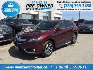 Used 2017 Acura RDX Elite Pkg AWD, Navi, ONE Owner, Clean Carfax for sale in Whitby, ON