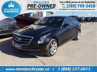 Used 2015 Cadillac ATS Luxury AWD, Sunroof, Cam, Clean Carfax for sale in Whitby, ON