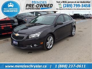 Used 2014 Chevrolet Cruze 2LT, Bluetooth, Leather, Sunroof for sale in Whitby, ON