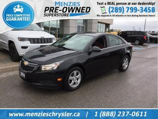 Used 2014 Chevrolet Cruze 2LT, Navi, Cam, One Owner, Clean Carfax for sale in Whitby, ON