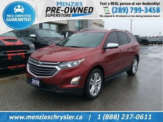 Used 2018 Chevrolet Equinox Premier AWD, Navi, One Owner, Clean Carfax for sale in Whitby, ON