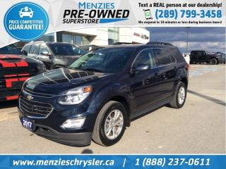 Used 2017 Chevrolet Equinox LT, Bluetooth, Sunroof, Navi, Clean Carfax for sale in Whitby, ON
