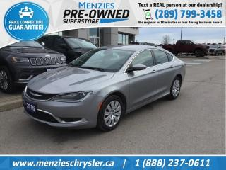 Used 2016 Chrysler 200 Limited, Bluetooth, Cam, Alloys, Clean Carfax for sale in Whitby, ON