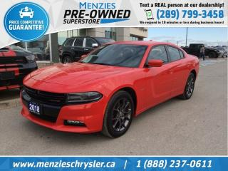 Used 2018 Dodge Charger GT, AWD, Bluetooth, Apple Car Play, Clean Carfax for sale in Whitby, ON