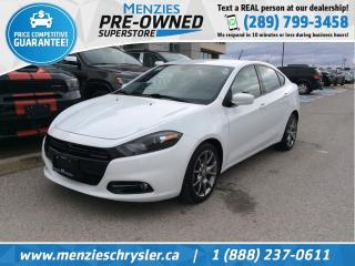 Used 2015 Dodge Dart SXT, Bluetooth, Alloys, Cruise, Clean Carfax for sale in Whitby, ON