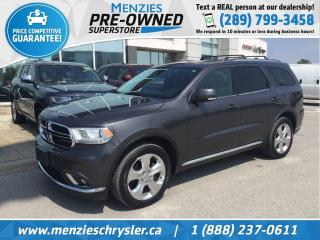 Used 2014 Dodge Durango Limited 4x4, Navi, Sunroof, DVD for sale in Whitby, ON