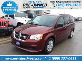 Used 2017 Dodge Grand Caravan SXT, Full STO N Go, ONE Owner, Clean Carfax for sale in Whitby, ON