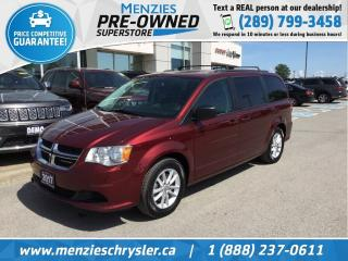 Used 2017 Dodge Grand Caravan SXT Plus, DVD, Navi, One Owner, Clean Carfax for sale in Whitby, ON