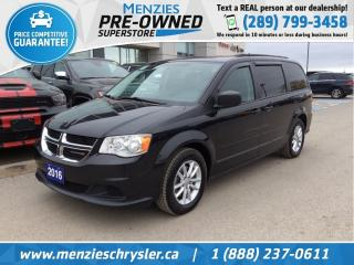 Used 2016 Dodge Grand Caravan SXT, Full STO N GO Seating, One Owner for sale in Whitby, ON