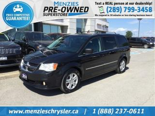 Used 2014 Dodge Grand Caravan Crew Plus, Cam, Navi, Leather, Clean Carfax for sale in Whitby, ON