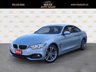 Used 2014 BMW 4 Series 428i xDrive Red leather interior for sale in Brampton, ON