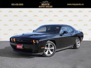 Used 2015 Dodge Challenger SXT Red leather, Navigation, no accidents for sale in Brampton, ON