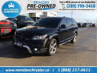 Used 2017 Dodge Journey Crossroad AWD, Sunroof, DVD, Navigation for sale in Whitby, ON