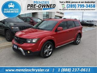 Used 2017 Dodge Journey Crossroad AWD, Leather, Navi, DVD, Clean Carfax for sale in Whitby, ON