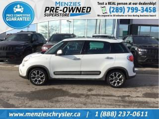 Used 2015 Fiat 500 L Trekking, Bluetooth, Navi, Pano Roof, Clean Carfax for sale in Whitby, ON