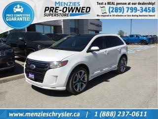 Used 2013 Ford Edge Sport AWD, Leather, Navi, Sunroof, Clean Carfax for sale in Whitby, ON