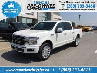 Used 2018 Ford F-150 Limited 4x4, Pano Roof, One Owner, Clean Carfax for sale in Whitby, ON