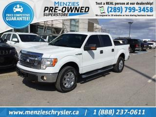 Used 2013 Ford F-150 XLT 4x4, Bluetooth, Cam, Hitch, Clean Carfax for sale in Whitby, ON