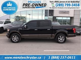 Used 2017 Ford F-150 Lariat 4x4, Navi, Leather, One Owner, Clean Carfax for sale in Whitby, ON