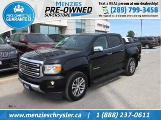 Used 2016 GMC Canyon 4WD SLT, Navi, Leather, One Owner, Clean Carfax for sale in Whitby, ON