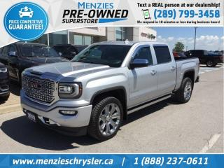 Used 2018 GMC Sierra 1500 Denali 4x4, Sunroof, Leather, Navi, Clean Carfax for sale in Whitby, ON