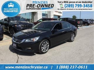 Used 2015 Honda Accord Sedan Sport, Bluetooth, Sunroof, Cam, Htd Frt Seats for sale in Whitby, ON