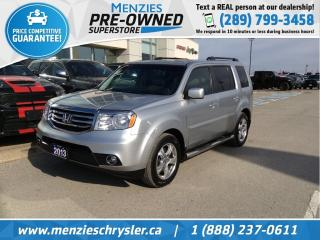 Used 2013 Honda Pilot EX-L, Sunroof, Bluetooth, One Owner, Clean Carfax for sale in Whitby, ON