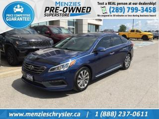 Used 2016 Hyundai Sonata 2.4L Sport Tech, Navi, Pano Roof, Clean Carfax for sale in Whitby, ON