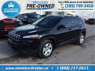 Used 2015 Jeep Cherokee Sport, Bluetooth, Cam, One Owner, Clean Carfax for sale in Whitby, ON