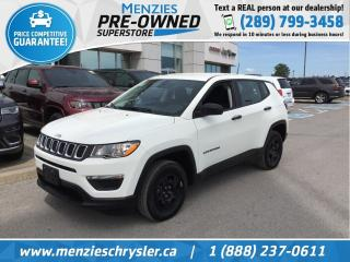 Used 2019 Jeep Compass Sport 4x4, Bluetooth, One Owner, Clean Carfax for sale in Whitby, ON
