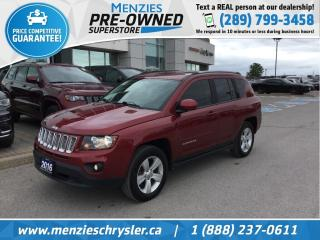 Used 2016 Jeep Compass North 4x4, Bluetooth, Sirius, Alloys, Clean Carfax for sale in Whitby, ON