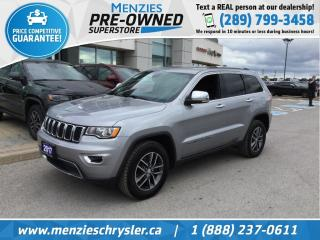 Used 2017 Jeep Grand Cherokee Limited 4x4, Cam, Leather, Clean Carfax for sale in Whitby, ON