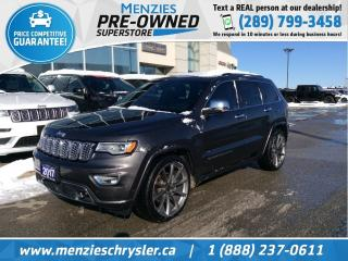 Used 2017 Jeep Grand Cherokee Overland 4x4, Pano Roof, Navi, Clean Carfax for sale in Whitby, ON