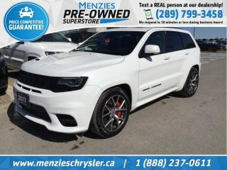 Used 2017 Jeep Grand Cherokee SRT, 6.4 Hemi, Pano Roof, Navi, Cam, Leather for sale in Whitby, ON