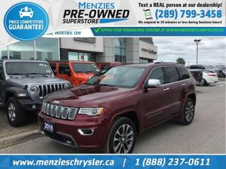 Used 2018 Jeep Grand Cherokee Overland, Pano Roof, ONE Owner, Clean Carproof for sale in Whitby, ON