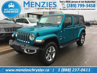 New 2020 Jeep Wrangler Unlimited Sahara 4X4 for sale in Whitby, ON