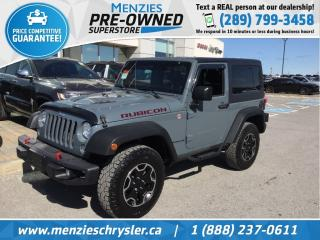 Used 2014 Jeep Wrangler Rubicon, Leather, Navi, One Owner, Clean Carfax for sale in Whitby, ON