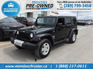 Used 2012 Jeep Wrangler Unlimited Sahara 4x4, Bluetooth, Sirius, USB, Hardtop for sale in Whitby, ON