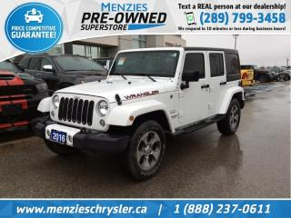 Used 2016 Jeep Wrangler Unlimited Sahara 4x4, Navi, Bluetooth, Clean Carfax for sale in Whitby, ON
