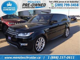 Used 2017 Land Rover Range Rover Sport Td6 HSE, Pano Roof, One Owner, Clean Carfax for sale in Whitby, ON